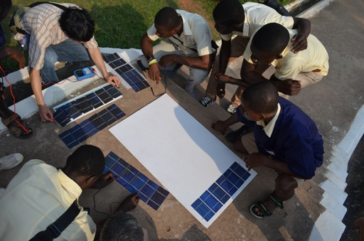 Solar Panel Workshop outdoor testing at TTI