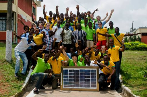 Solar Panel Workshop group photo at TTI