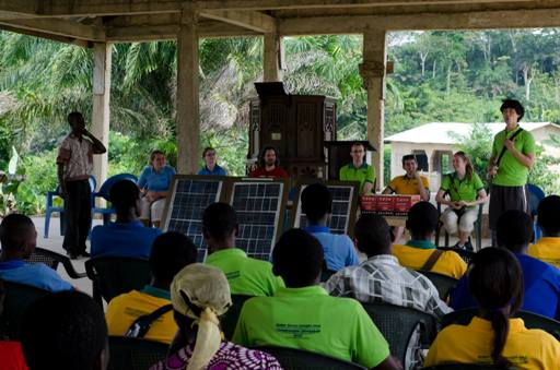 Solar Panel Workshop installation at remote village near TTI